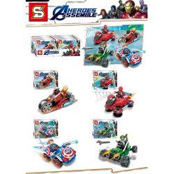 SHENG YUAN SY 1314 SY1314 1314 SY1314A 1314A SY1314B 1314B SY1314C 1314C SY1314D 1314D Xếp hình kiểu Lego SUPER HEROES Heroes Assemble bộ xếp hình siêu anh hùng gồm xe máy siêu tốc của người sắt, xe o