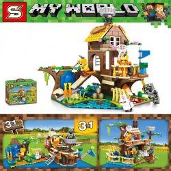 SHENG YUAN SY 1165 Xếp hình kiểu Lego MINECRAFT MY WORLD Autumn Color Three In One Màu Sắc Mùa Thu Dễ Chịu Ba Trong Một 369 khối