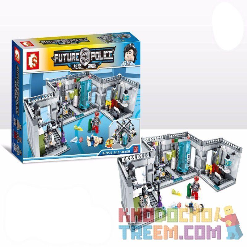 SEMBO SD9606 9606 Xếp hình kiểu Lego CITY Future Police:Biochemistry Laboratory Cảnh sát tương lai : Phòng thí nghiệm Hóa sinh 367 khối