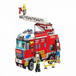 Enlighten 2807 Qman 2807 Xếp hình kiểu Lego FIRE RESCURE FireRescue Flame Pioneer Firefighting Command Xe Chỉ Huy Chữa Cháy 366 khối