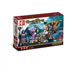 SEMBO SD3351 3351 Xếp hình kiểu Lego CHRONICLES OF THE GHOSTLY TRIBE Ghost Tribes bàn thờ của bộ lạc tử thần 349 khối