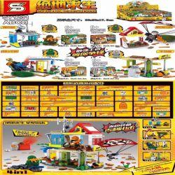 Sheng Yuan 1231 SY1231 (NOT Lego Battle Royale ) Xếp hình 4 Cảnh Nhỏ gồm 4 hộp nhỏ 365 khối