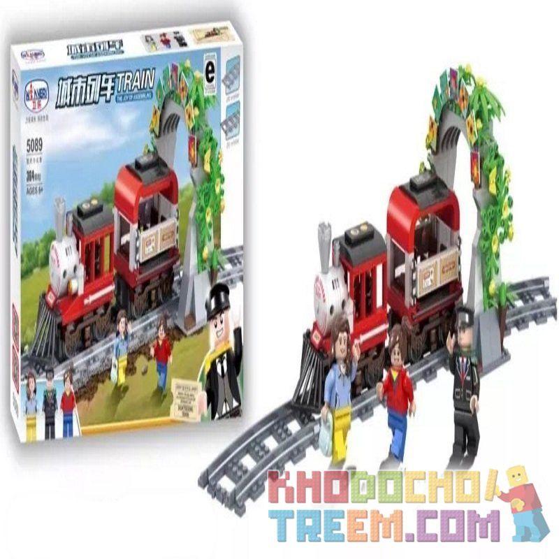 Winner 5089 Xếp hình kiểu Lego TRAINS TRAIN Xe lửa số hiệu 5089 364 khối