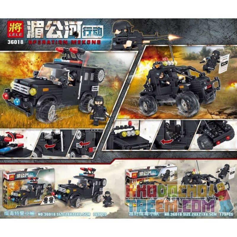 LELE 36018 36018-1 36018-2 Xếp hình kiểu Lego Operation Mekong 2 Types Of Anti-drug Team And Cross-country Anti-drug Team đội đặc Nhiệm Chống Ma Túy Gồm Xe Bán Tải Quân Sự Và Xe Dã Chiến gồm 2 hộp nhỏ