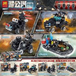 LELE 36017 36017-1 36017-2 36017-3 36017-4 Xếp hình kiểu Lego Operation Mekong 4 Types Of Laser Anti-drug Vehicles, Rapid-fire Machine Gun Vehicles, Heroic Artillery Vehicles, And Dreadnought Chargers