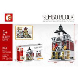 SEMBO SD6302 6302 Xếp hình kiểu Lego MINI MODULAR Sembo Block bộ xếp hình nhà ăn 345 khối