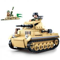 SLUBAN M38-B0691 B0691 0691 M38B0691 38-B0691 Xếp hình kiểu Lego Panzer II World War II Adversity Rebirth No. 2 Tank Xe Tăng Hai 356 khối