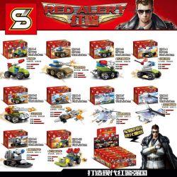 SHENG YUAN SY 1244 1244-1 1244-10 1244-2 1244-3 1244-4 1244-5 1244-6 1244-7 1244-8 1244-9 Xếp hình kiểu Lego RED ALERT Red Police Mini Carrier 10 Rockets, Hunt Tiger Tanks, Flying Legs, Phantom Tanks,