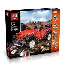 Lepin 20090 Rebrickable MOC-5140 (NOT Lego Forma Jeep Wrangler Rubicon Rc ) Xếp hình Xe Địa Hình Jeep Điều Khiển Từ Xa 2834 khối