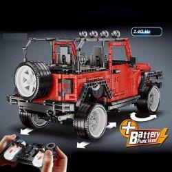Lepin 20090 Rebrickable MOC-5140 Xếp hình kiểu LEGO FORMA Jeep Wrangler Rubicon RC Xe Địa Hình Jeep Điều Khiển từ xa 2834 khối điều khiển từ xa