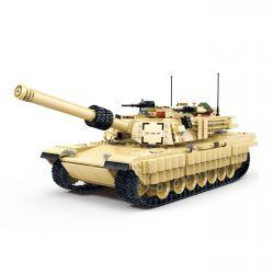 Gudi 6102 (NOT Lego Military Army M1A2 Abrams U.s. Main Battle Tank ) Xếp hình Xe Tăng Chủ Lực 2155 khối