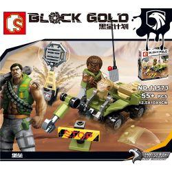 SEMBO 11573 11574 11575 11576 11577 11578 11579 11580 Xếp hình kiểu Lego BLACK GOLD Black Plan Small Scene 8 Cuộc Chiến Tại Sa Mạc Với Máy Bay, Vũ Khí Phòng Thủ Tên Lửa, Máy Dò Mìn Và Rada gồm 8 hộp n