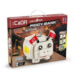 Doublee Cada C51036 C51036W (NOT Lego Christmas Noel New Year Piggy Bank ) Xếp hình Bộ Xếp Hình Lợn Tiết Kiệm 344 khối