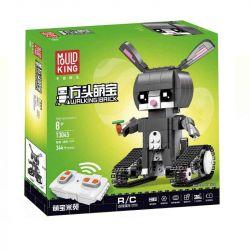MOULDKING 13045 Xếp hình kiểu Lego WALKING BRICK Walking Brick Hudy-Rabbit Fang Hengbao Fangtang Rice Bunny Bộ Lắp Ráp Thỏ điều Khiển Từ Xa 344 khối điều khiển từ xa