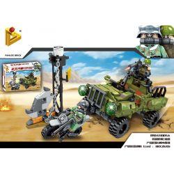 PanlosBrick 631005A Panlos Brick 631005A Xếp hình kiểu Lego Justice Action Rushing Xe Tải Quấn Sự Truy Bắt Tội Phạm 343 khối