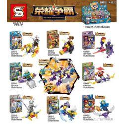 SHENG YUAN SY 1095 Xếp hình kiểu Lego KING OF GLORY HEGEMONY Glory Hegemony 8 nhân vật thuộc bóng tối kết hợp thành rồng hủy diệt 347 khối