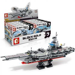 SEMBO 12082 12083 12084 12085 12086 12087 12088 12089 Xếp hình kiểu Lego BLACK GOLD Black Plan Silk Shadow Team Ford Aircraft Carrier 8 Combination Tàu Sân Bay Kết Hợp gồm 8 hộp nhỏ 836 khối