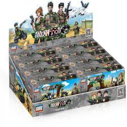 GUDI 8038 8038A 8038B 8038C 8038D 8038E 8038F 8038G 8038H Xếp hình kiểu Lego TIGER HUNT Hunting Military Scene 8 Căn Cứ Quân Sự gồm 8 hộp nhỏ 795 khối
