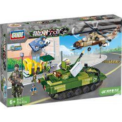 GUDI 8037 Xếp hình kiểu Lego TIGER HUNT Tiger Hunt City Battle Hunting City Defense War Phòng Thủ Trong Thành Phố 725 khối