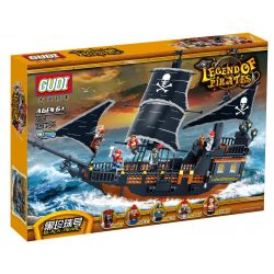 GUDI 9115 Xếp hình kiểu Lego PIRATES OF THE CARIBBEAN Legend Of Pirates Black Pearl Pirate Legend Black Pearl Pirate Ship Tàu Cướp Biển Ngọc Trai đen Huyền Thoại 652 khối