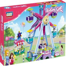 GUDI 9615 Xếp hình kiểu Lego MODERN GIRLS Modern Girls Ferris Wheel Chiếc đu Quay Diệu Kỳ 701 khối