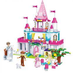 GUDI 9013 Xếp hình kiểu Lego Alice Sweetheart Castle Alice Princess Lâu đài Của Công Chúa Alice 616 khối