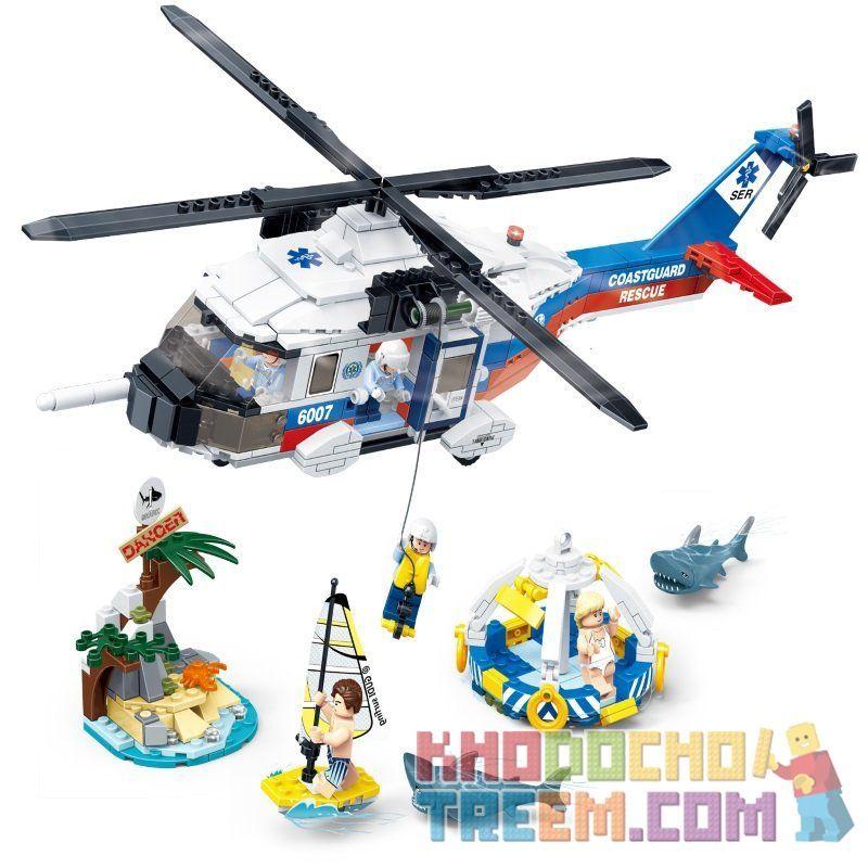 GUDI 9226 Xếp hình kiểu Lego CITY Fireman:Marine Rescue Operation Trực thăng cứu hộ 589 khối