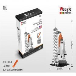 Wise Hawk 2282 Nanoblock Architecture The Transmitting Station Xếp hình Trạm Phóng Vệ Tinh 537 khối