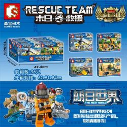 SEMBO SD9354 9354 SD9355 9355 SD9356 9356 SD9357 9357 Xếp hình kiểu Lego RESCUE TEAM City Rescue 4 Types Cứu hộ thành phố 4 loại gồm 4 hộp nhỏ 561 khối