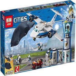 LARI 11210 LEPIN 02129 Xếp hình kiểu Lego CITY Air Base Air Special Police Air Special Police Base Máy Bay Phản Lực Cảnh Sát 529 khối