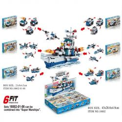LE DI PIN 18002 Xếp hình kiểu Lego CREATOR 3 IN 1 Six-in-one Destroyer chiến hạm 6 trong 1 497 khối