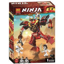 Lepin 06093 Bela 11159 Sheng Yuan 1252B SY1252B (NOT Lego Ninjago Movie 70665 The Samurai Mech ) Xếp hình Người Máy Samurai Đỏ 154 khối