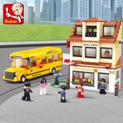 SLUBAN M38-B0333 B0333 0333 M38B0333 38-B0333 Xếp hình kiểu Lego CITY Xe buýt trường học 496 khối