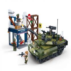 GUDI 8036 Xếp hình kiểu Lego TIGER HUNT Tiger Hunt Tank Defencing War Hunting Xe Tăng Phòng Thủ 493 khối