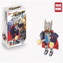 Wise Hawk 2205 Nanoblock Super Heroes Thor Xếp hình Thần Sấm Thor 472 khối