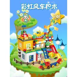 FEELO 1600B Xếp hình kiểu Lego Duplo DUPLO Smart Windmill House Assembly lắp ráp ngôi nhà cối xay gió thông minh 248 khối