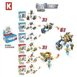 LE DI PIN 88803 Xếp hình kiểu Lego POLICE Phương Tiện Chiến đấu Cần Dịch 464 khối