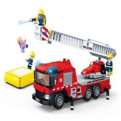 GUDI 9223 Xếp hình kiểu Lego CITY Fireman:Ladder Fire Truck Xe cứu hỏa có thang 450 khối