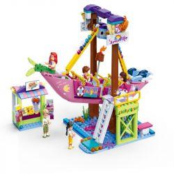 GUDI 9613 Xếp hình kiểu Lego MODERN GIRLS Modern Girls Mermaid Ship Thuyền Thủy Cung 450 khối