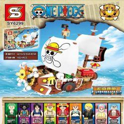 SHENG YUAN SY SY6299 6299 Xếp hình kiểu Lego ONE PIECE THOUSAND SUNNY Nautical King Wanli Sunshine One Piece Tàu Chiến Của Hải Tặc Mũ Rơm 432 khối