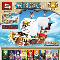 Sheng Yuan 6299 SY6299 (NOT Lego One Piece Thousand Sunny ) Xếp hình Tàu Chiến Của Hải Tặc Mũ Rơm 432 khối