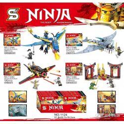 SHENG YUAN SY 1124 1124A 1124B Xếp hình kiểu Lego THE LEGO NINJAGO MOVIE Ninja Thunder Swordsman Máy bay ninja sấm sét gồm 2 hộp nhỏ 421 khối