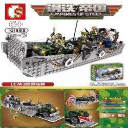SEMBO 101362 Xếp hình kiểu Lego EMPIRES OF STEEL Steel Empire LCM3 Landing Ship Tàu đổ Bộ LCM3 413 khối