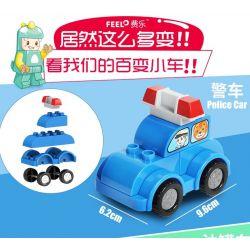 Feelo 1601A Xếp hình kiểu LEGO Duplo Police cars lắp ráp xe cảnh sát 7 khối