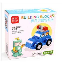 Feelo 1601A (NOT Lego Duplo Police Cars ) Xếp hình Lắp Ráp Xe Cảnh Sát 7 khối