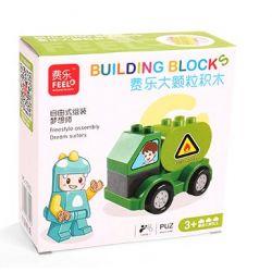 Feelo 1601B (NOT Lego Duplo Tanker ) Xếp hình Lắp Ráp Xe Chở Dầu 7 khối