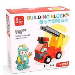Feelo 1601C (NOT Lego Duplo Fire Truck ) Xếp hình Xe Cứu Hỏa 9 khối