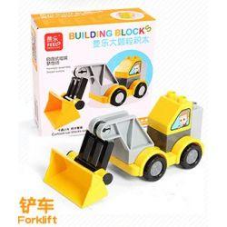 Feelo 1601D Xếp hình kiểu LEGO Duplo Forklitft lắp ráp xe nâng 8 khối