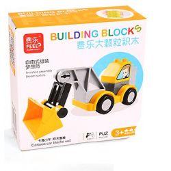 Feelo 1601D (NOT Lego Duplo Forklitft ) Xếp hình Lắp Ráp Xe Nâng 8 khối