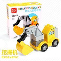 Feelo 1601E (NOT Lego Duplo Excavator ) Xếp hình Máy Xúc 9 khối